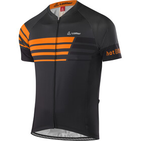Löffler Hotbond Reflective Bike Trikot Full-Zip Herren schwarz/orange